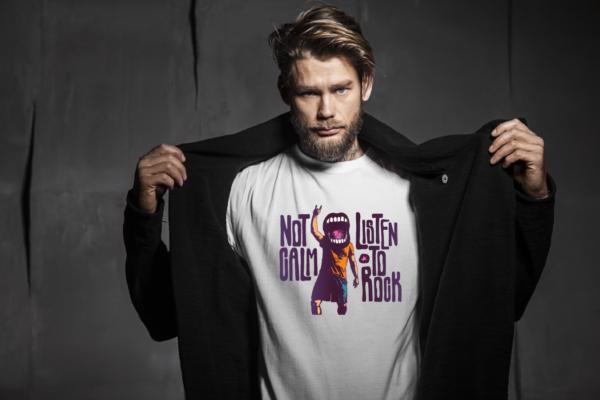T-Shirt Listen To Rock