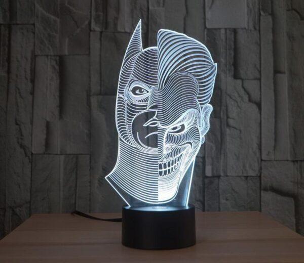 Lampada a Led 3D Batman VS Joker