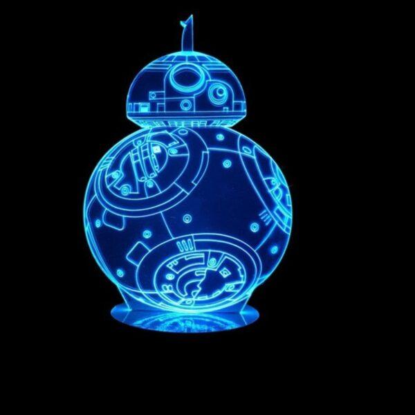 Lampada a Led 3D BB8 Star Wars