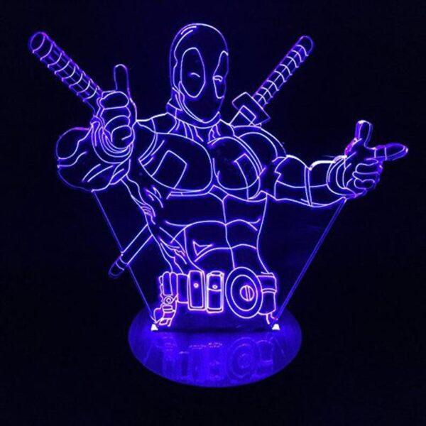 Lampada a Led 3D Deadpool