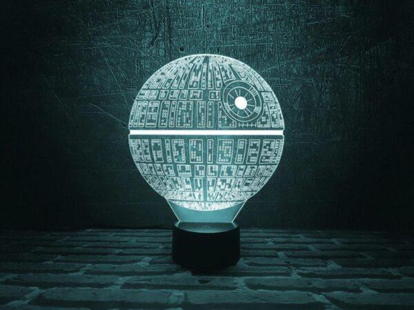 Lampada a Led 3D La Morte Nera