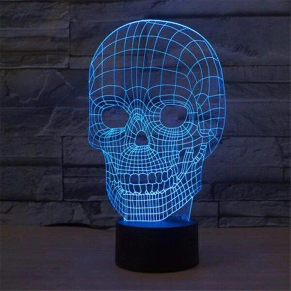 Lampada a Led 3D Teschio