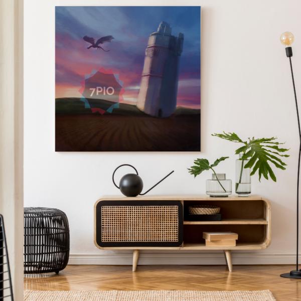 Fotoquadro Old Tower & Dragon