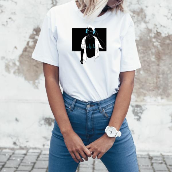 T-Shirt Headphones Guy
